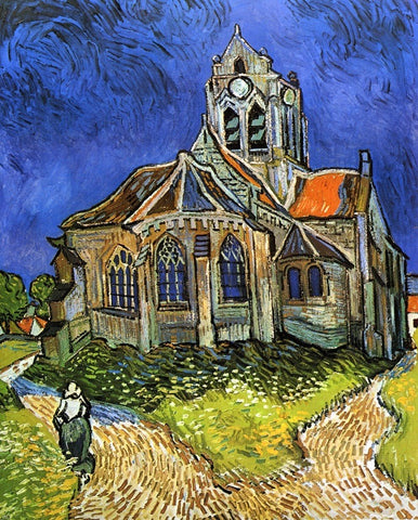 A Church at Auvers (also known as The Church at Auvers) by Vincent Van Gogh - Hand Painted Oil Painting