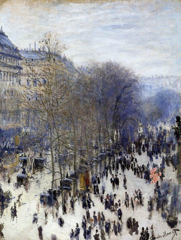 Boulevard des Capucines by Claude Oscar Monet - Hand Painted Oil Painting
