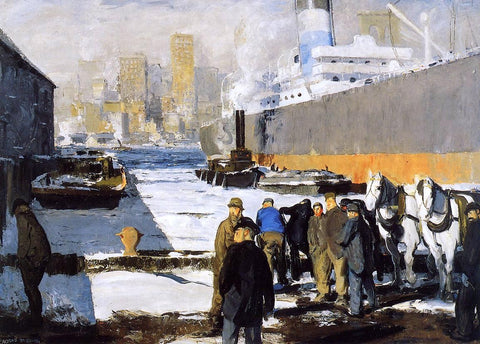 Men of the Docks by George Wesley Bellows - Hand Painted Oil Painting