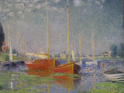 Red Boats Argenteuil by Claude Oscar Monet - Hand Painted Oil Painting