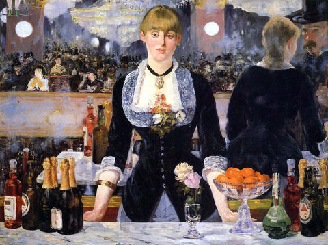 Edouard Manet A Bar at the Folies-Bergere - Hand Painted Oil Painting