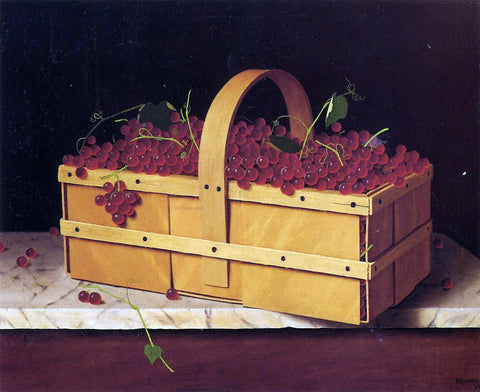 William Michael Harnett A Basket of Catawba Grapes - Hand Painted Oil Painting