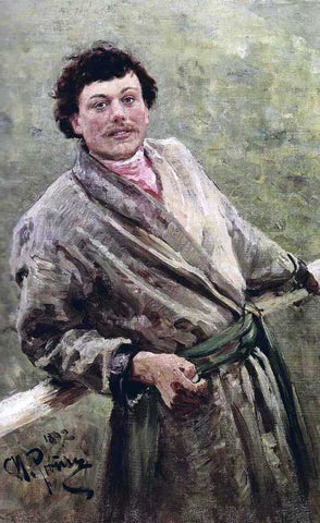 Ilia Efimovich Repin A Belorussian, Portrait of Sidor Shavrov - Hand Painted Oil Painting