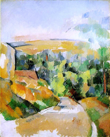 Paul Cezanne A Bend in the Road - Hand Painted Oil Painting