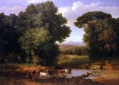 George Inness A Bit of Roman Aqueduct - Hand Painted Oil Painting
