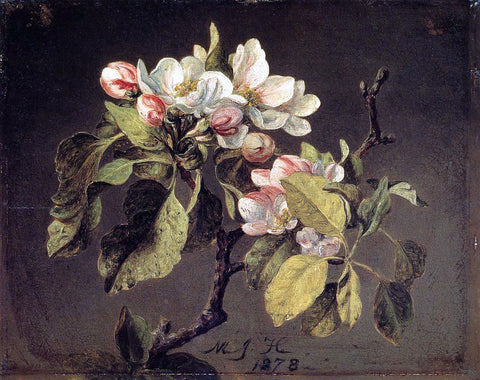Martin Johnson Heade A Branch of Apple Blossoms and Buds - Hand Painted Oil Painting