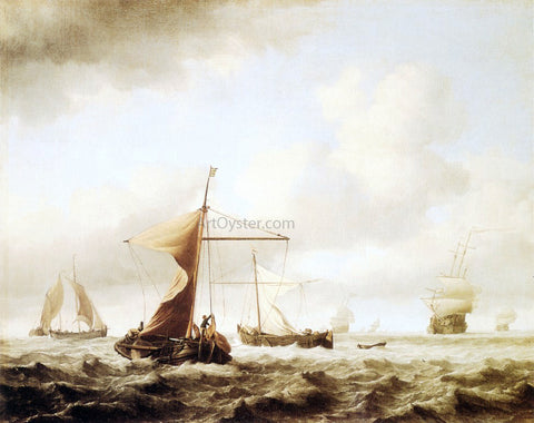 The Younger Willem Van de Velde A Brisk Breeze - Hand Painted Oil Painting