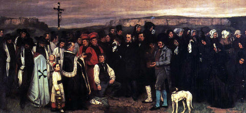 Gustave Courbet A Burial at Ornhans - Hand Painted Oil Painting