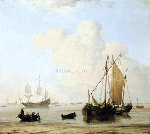 The Younger Willem Van de Velde A Calm - Hand Painted Oil Painting