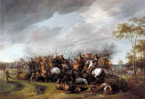 Pieter Snayers A Cavalry Engagement - Hand Painted Oil Painting