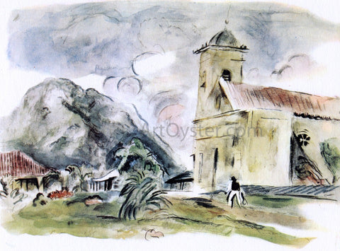 Jules Pascin A  Church in Cuba - Hand Painted Oil Painting