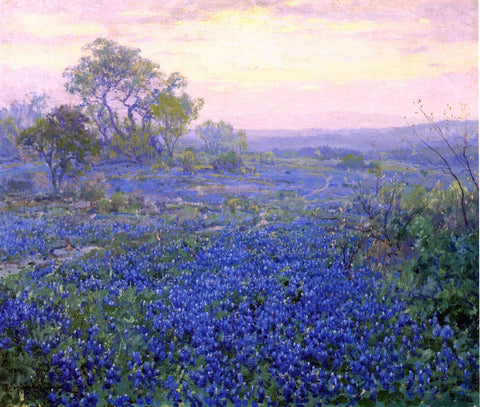 Julian Onderdonk A Cloudy Day, Bluebonnets near San Antonio, Texas - Hand Painted Oil Painting