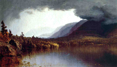 Sanford Robinson Gifford Coming Storm on Lake George - Hand Painted Oil Painting