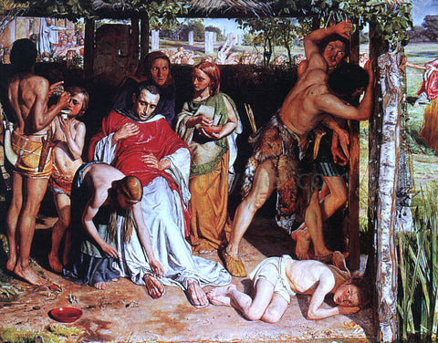 William Holman Hunt A Converted British Family Sheltering a Christian Missionary from the Persecution of the Druids - Hand Painted Oil Painting