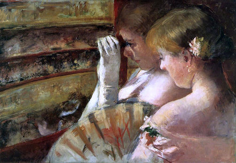 Mary Cassatt A Corner of the Loge (also known as In the Box) - Hand Painted Oil Painting