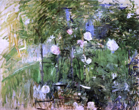 Berthe Morisot A Corner of the Rose Garden - Hand Painted Oil Painting
