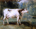 Constant Troyon A Cow in a Landscape - Hand Painted Oil Painting