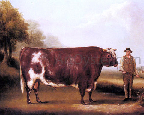 William Davis A Dark Roan Bull - Hand Painted Oil Painting