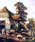Thomas Sidney Cooper A Farm in Kent - Hand Painted Oil Painting