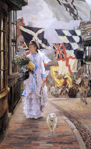 James Tissot A Fete Day at Brighton - Hand Painted Oil Painting