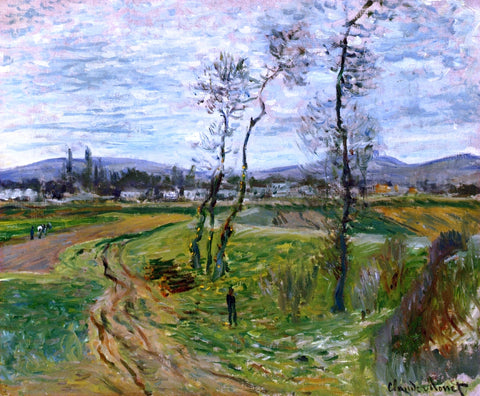 Claude Oscar Monet A Field at Gennevilliers - Hand Painted Oil Painting