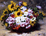 Georges Jeannin A Floral Bouquet - Hand Painted Oil Painting
