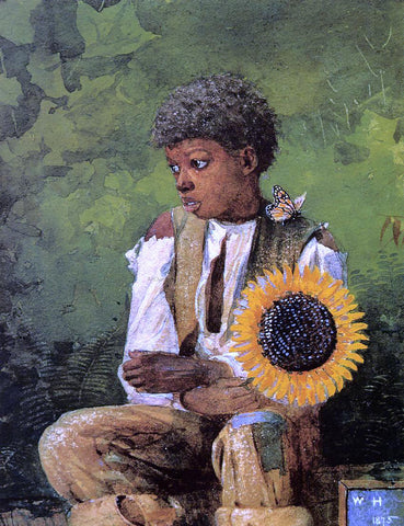 Winslow Homer A Flower for the Teacher - Hand Painted Oil Painting