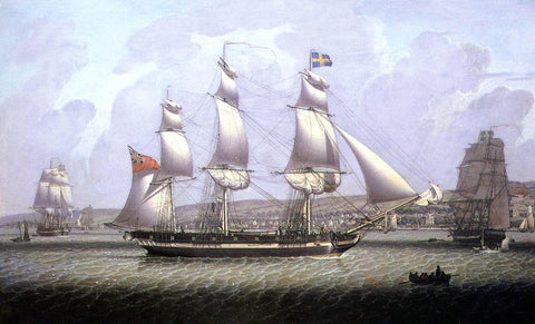 Robert Salmon A Frigate of the Baltic Fleet off Greenock - Hand Painted Oil Painting