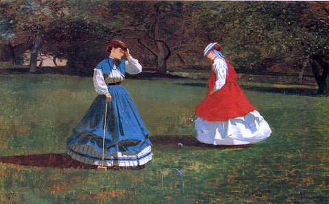 Winslow Homer A Game of Croquet - Hand Painted Oil Painting