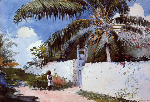 Winslow Homer A Garden in Nassau - Hand Painted Oil Painting