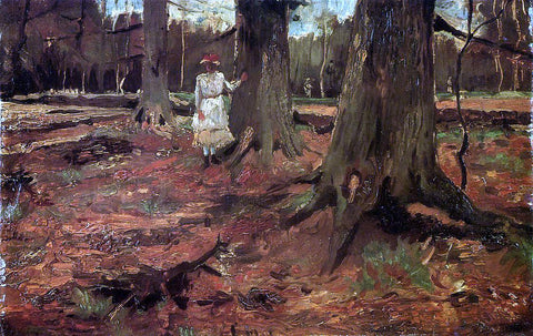 Vincent Van Gogh Girl in White in the Woods - Hand Painted Oil Painting