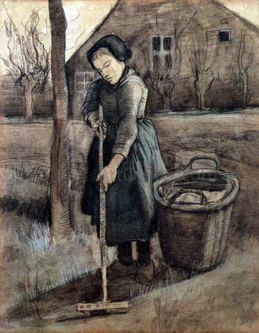 Vincent Van Gogh The Girl Raking - Hand Painted Oil Painting
