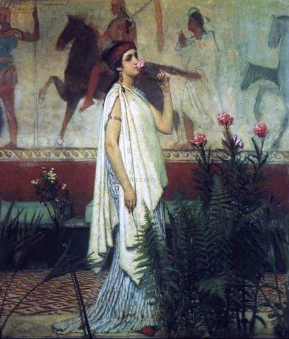 Sir Lawrence Alma-Tadema Greek Woman - Hand Painted Oil Painting