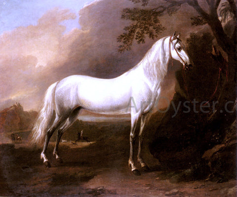 Jan Wyck A Grey Arab Stallion In A Landscape - Hand Painted Oil Painting