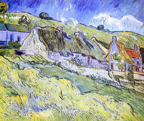 Vincent Van Gogh A Group of Cottages - Hand Painted Oil Painting