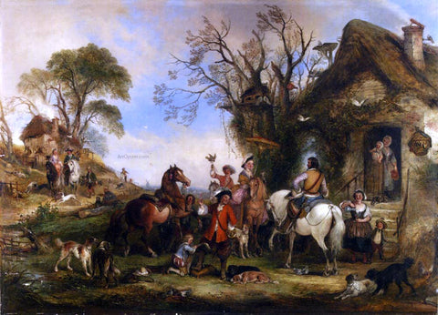 Henry Andrews A Hawking Party - Hand Painted Oil Painting