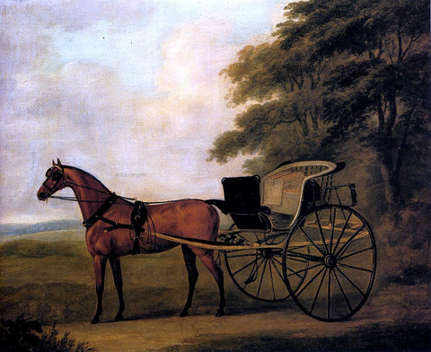 John Nost Sartorius A Horse And Carriage In A Landscape - Hand Painted Oil Painting