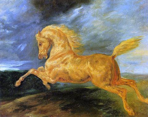 Theodore Gericault A Horse Frightened by Lightening - Hand Painted Oil Painting