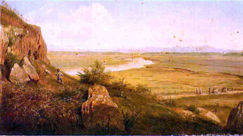 Thomas Worthington Whittredge Hunter in a Landscape - Hand Painted Oil Painting