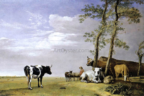 Paulus Potter A Husbandman with His Herd - Hand Painted Oil Painting