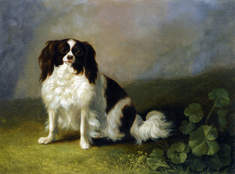 Jacob Philipp Hackert A King Charles Spaniel in a Landscape - Hand Painted Oil Painting