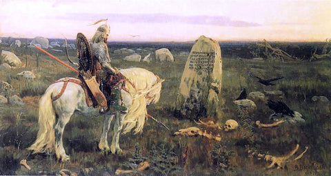 Victor Mikhail Vasnetsov A Knight at the Crossroads - Hand Painted Oil Painting