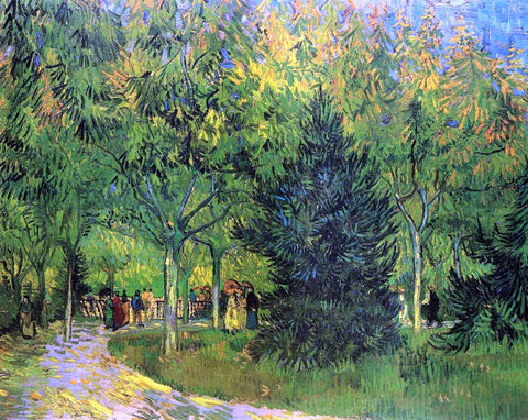 Vincent Van Gogh A Lane in the Public Garden at Arles - Hand Painted Oil Painting