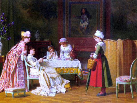 Charles Baugniet A Letter of Recommendation - Hand Painted Oil Painting