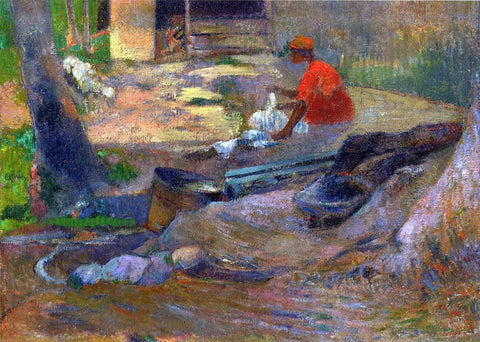 Paul Gauguin A Little Washerwoman - Hand Painted Oil Painting