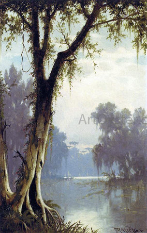 Joseph R Meeker A Louisiana Bayou - Hand Painted Oil Painting