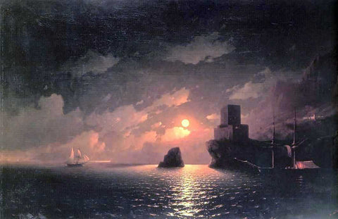 Ivan Constantinovich Aivazovsky A Lunar Night - Hand Painted Oil Painting