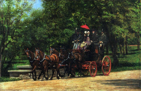 Thomas Eakins A May Morning in the Park (also known as The Fairman Robers Four-in-Hand) - Hand Painted Oil Painting