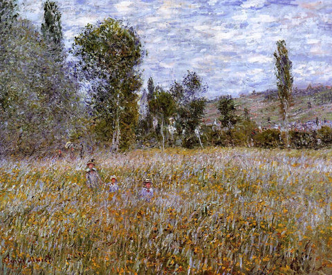 Claude Oscar Monet A Meadow - Hand Painted Oil Painting