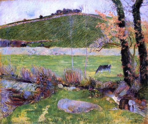 Paul Gauguin A Meadow on the Banks of the Aven - Hand Painted Oil Painting